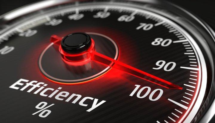 Efficiency gauge