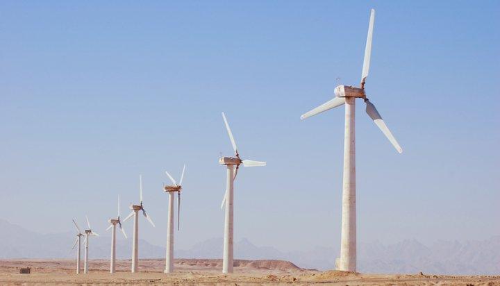 Wind turbines in Egypt