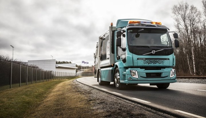 Electric Volvo truck