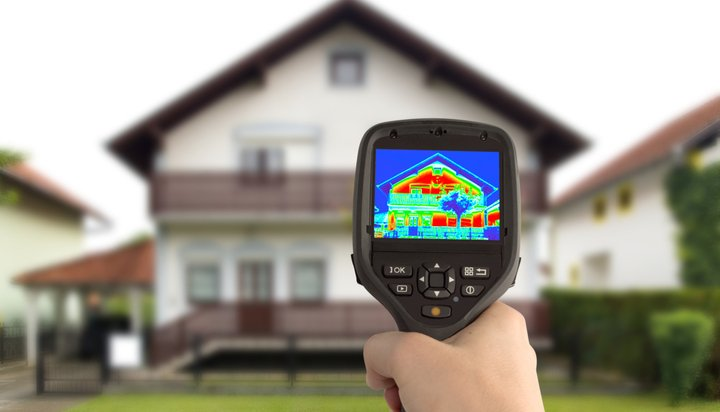 Home being tested with a thermal scanner