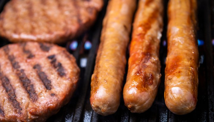 Sausages and burgers