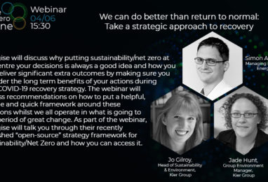 Webinar: We can do better than return to normal: Take a strategic approach to recovery
