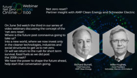 Webinar: Net zero reset? Partner insight with AMP Clean Energy and Schneider Electric