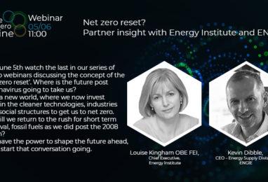 Webinar: Net zero reset? Partner insight with Energy Institute and ENGIE