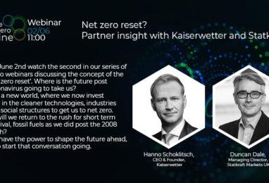 Webinar: Net zero reset? Partner insight with Kaiserwetter and Statkraft