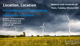 Webinar – Location, Location – the challenges to siting onshore wind farms in Scotland