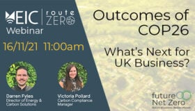 Webinar: Outcomes of COP26: What's next for UK business?